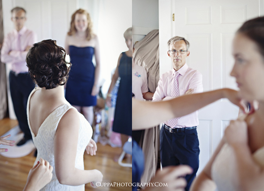Maine wedding photographer, Biddeford Pool, Hatties Restaurant, getting ready
