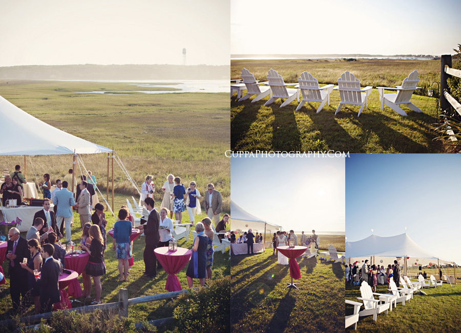 Maine wedding photographer, Biddeford Pool, Hatties restaurant, tent reception