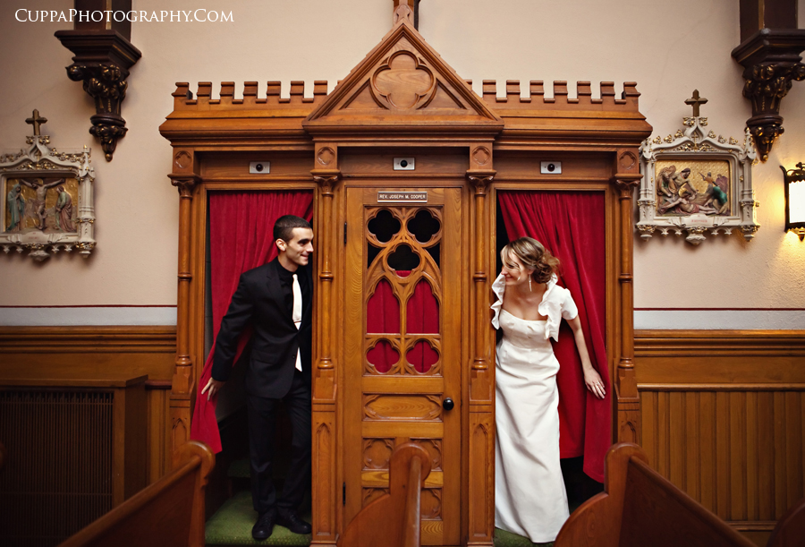 Maine wedding photographer, Manchester, New Hampshire, St Joseph chapel, Hilton, Art Institute