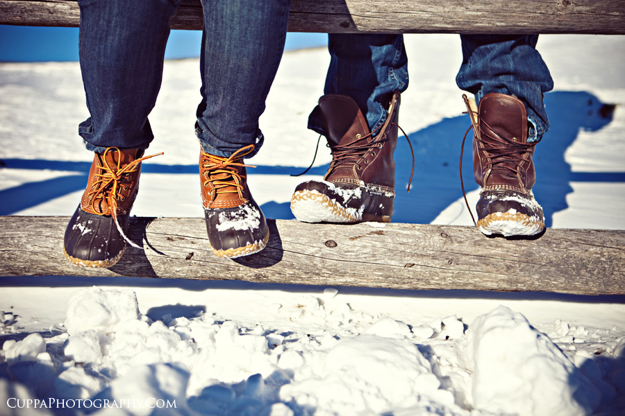 Maine wedding photographer, Old Port, Portland, Fort Williams Park, Head Light, engagement photos, snow, LL Bean boots