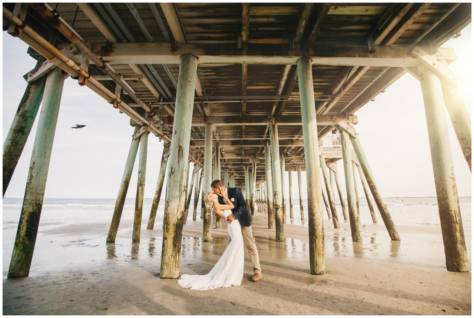 MaineWeddingPhotographer_OldOrchard_Beach_Coast_pier_tent-012
